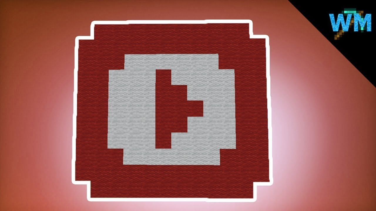 Minecraft Pixel Art How To Build A Mini Youtube Logo Youtube