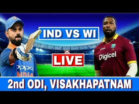 LIVE : India Vs West Indies 2nd ODI | IND VS WI Today Match Live Streaming | Ind Vs Wi 2nd ODI Live