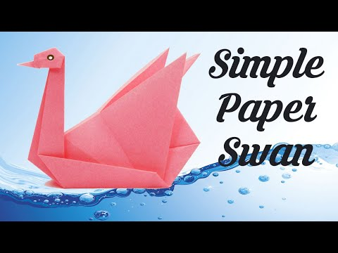 How to make Paper Swan, Easy Basic Simple Origami for Beginners Kids, Paper Crafts DIY Work Ideas