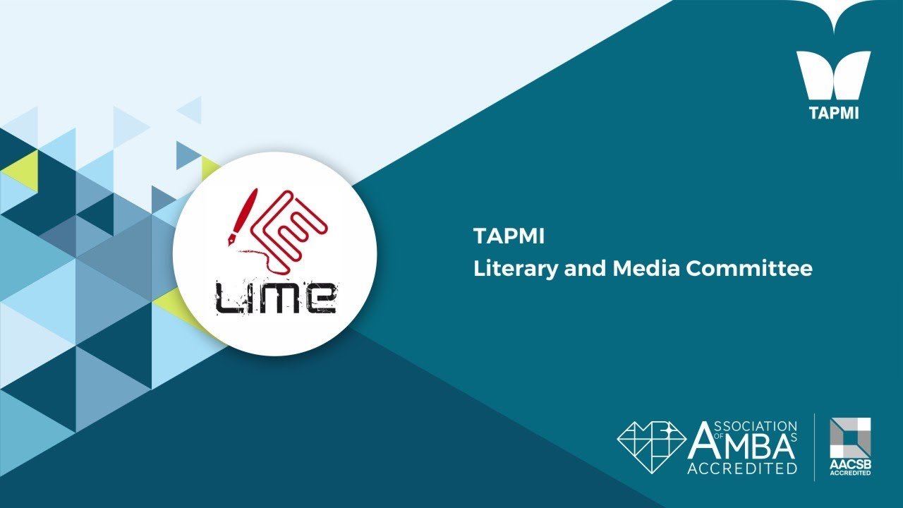 TAPMI   Literary and Media Committee