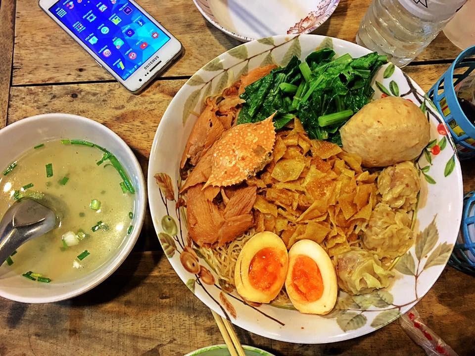 Image result for บะหมี่ ตลาดรถไฟรัชดา