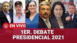 Debate presidencial JNE: Fujimori, Mendoza, Forsyth, Bengolea, Acuña y Arana debaten