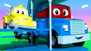 The Waterslide Truck !! Carl the Super Truck - Car City ! Cars and Trucks Cartoon for kids