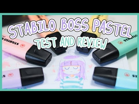 ♥ STABILO BOSS PASTEL ♥ Test & Review