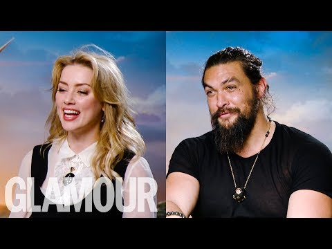 Aquaman's Jason Momoa Is Amber Heard's Cleavage Goals | GLAMOUR UK