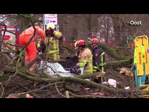 Dode door storm in Enschede