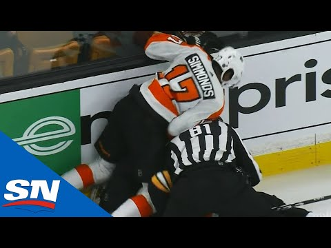 Simmonds Jumps on Kampfer and Ref To Break Up Fight