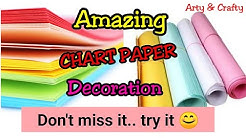 Chart Paper Decoration Ideas for School / Chart Paper Decoration / Border & Frame Design on Paper