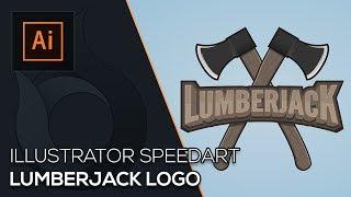 Lumberjack Logo | Illustrator Speedart | German | Wildfire Graphics