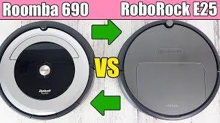 Roomba 690 vs RoboRock E25 - Robot Vacuum Cleaner Competition