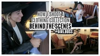 BTS HOW I SHOOT FOR MY CLOTHING LINE! GIRL BOSS PROBZ! | Lauren Elizabeth