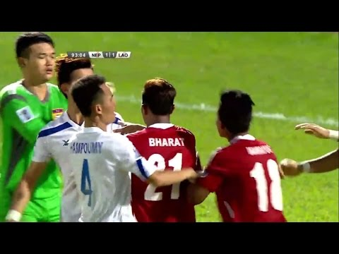 Worst Football Fight Nepal vs Laos