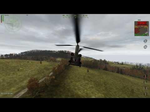 DayZ Gameplay, helicopter crash Boeing CH-47 Chinook