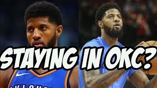 What if Paul George Resigns With The OKC Thunder?
