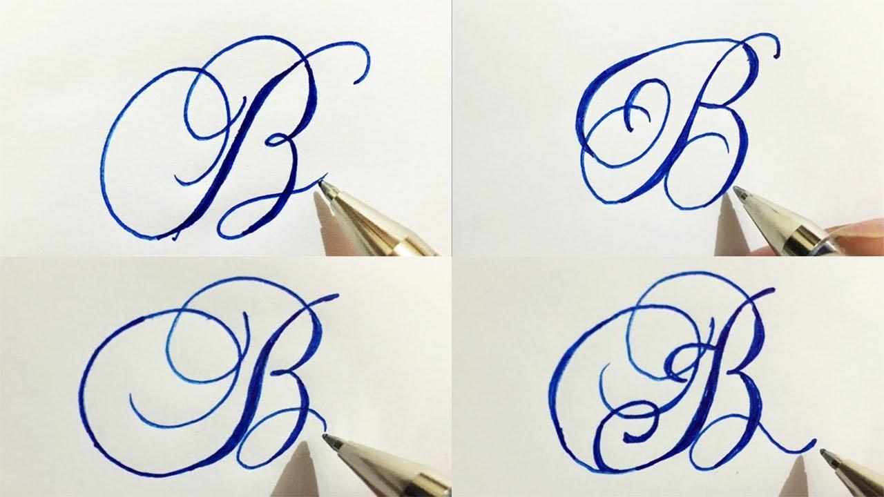Stylish Cursive Handwriting Calligraph Capital Alphabetatoz in 21