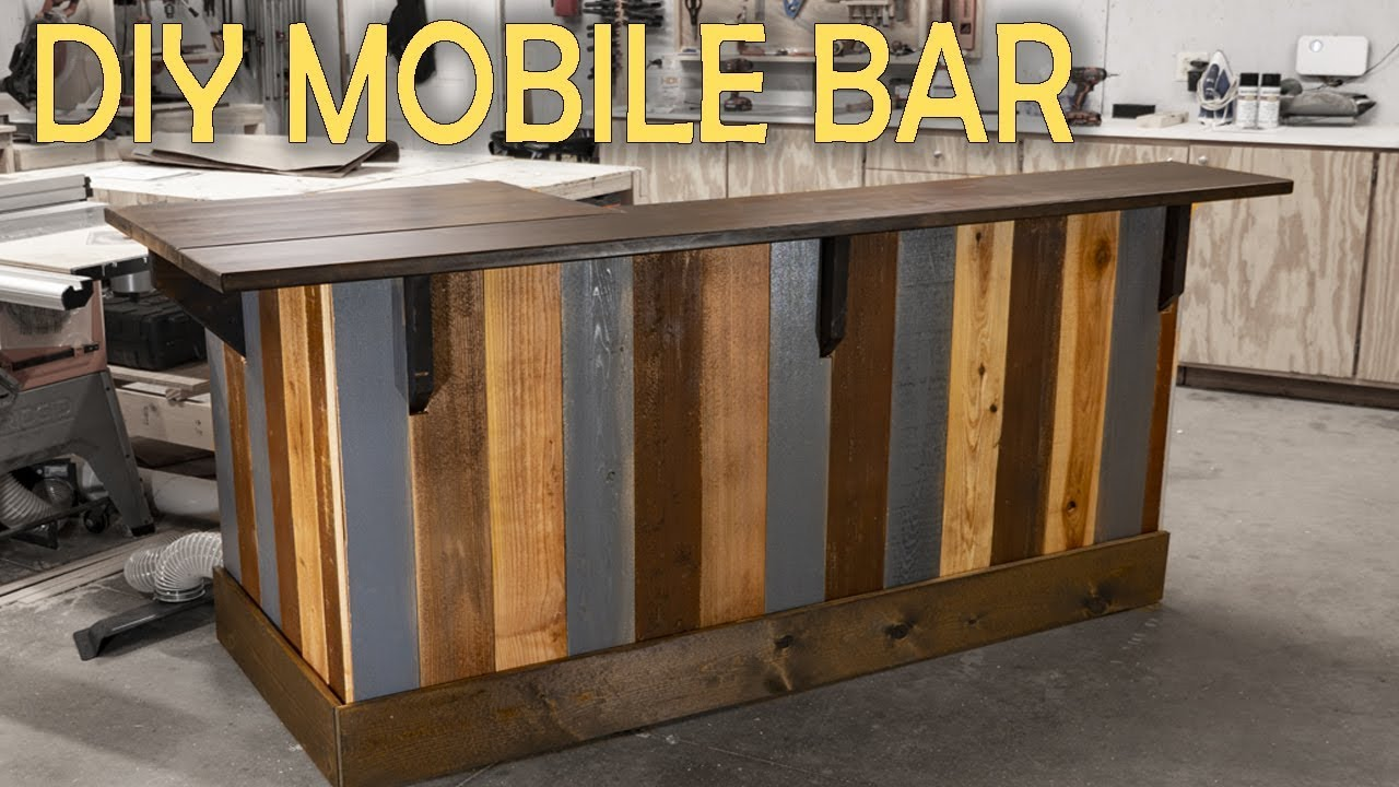 How To Build A Mobile In Home Bar Woodworking Youtube