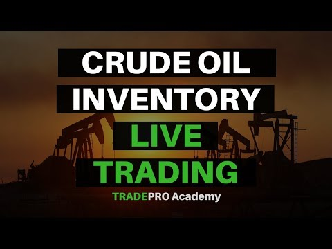 Live trading of crude oil inventory report.