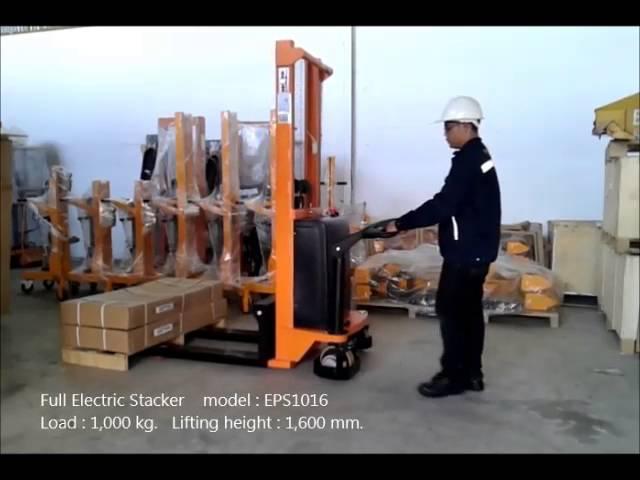 รถยกไฟฟ้า,รถยกของทับซ้อนอัตโนมัติ  Full- Electric Stacker EPS1016