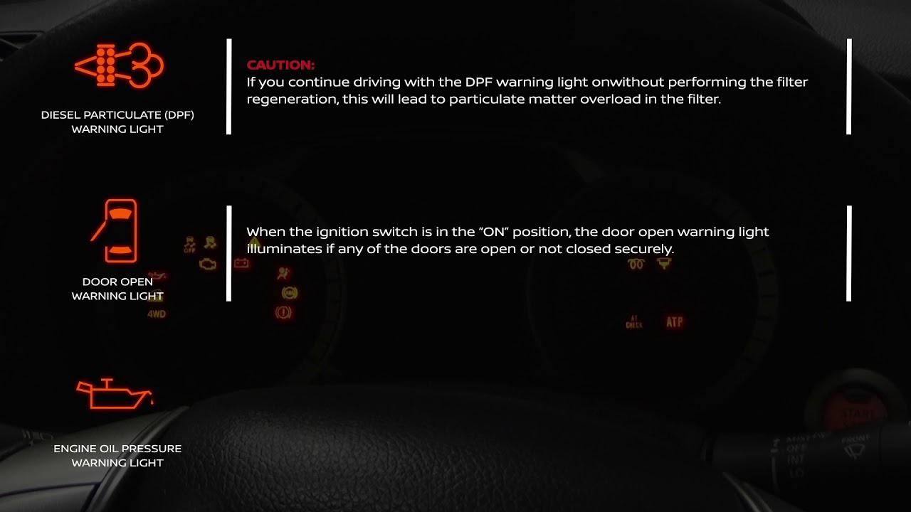 Nissan Navara Warning Lights Meaning Youtube