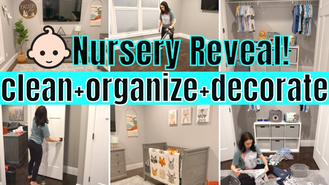 *EXTREME* NURSERY MAKEOVER! CLEAN, ORGANIZE, + DECORATE WITH ME 2020 // DIY NURSERY REVEAL + TOUR