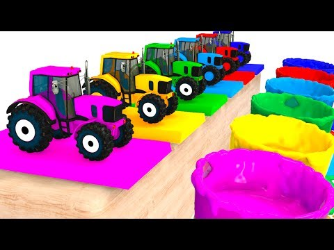 Thumbnail: Colors For Kids With Tractors & Cars 3D Superheroes for Babies - Learning Colors