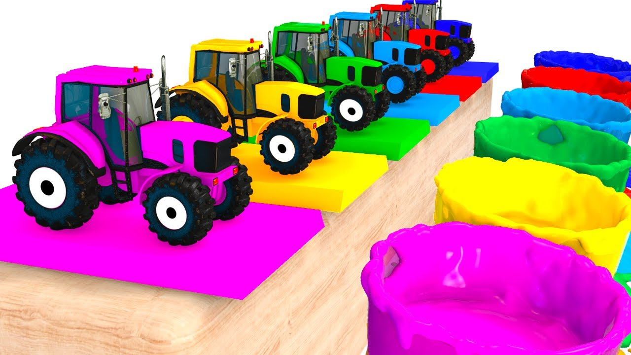 colors for kids with tractors cars 3d superheroes for babies learning colors