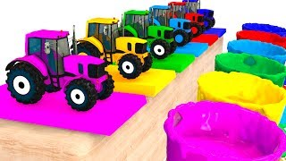 Colors For Kids With Tractors & Cars 3D Superheroes for Babies - Learning Colors