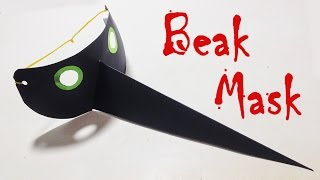 Halloween Mask - How to make a Bird Beak Mask with Paper - TLT Lab