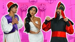 SHOULD JASMINE MARRY ALADDIN or JAFAR? (After a Spell, Which Disney Princess will Save Her?) 2019