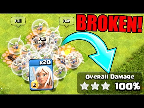 CLASH OF CLANS IS OFFICIALLY BROKEN!! 3 STAR WITH ALL HEALERS!!