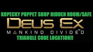 In this video you will see how to access the hidden room and safe in the Kopecky Puppet Shop belonging to Elias Chikane Triangle code included SUBSCRIBE
