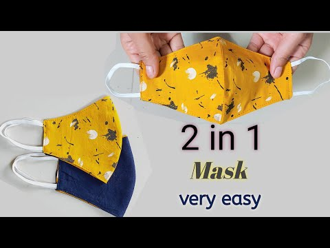 Very Easy New Style Pattern Mask/Face Mask Sewing Tutorial - How to Make Face Mask At Home -Diy Mask