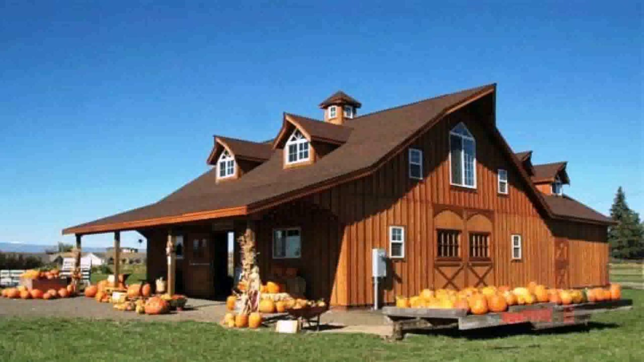 Barn style house images youtube for House plans that look like barns