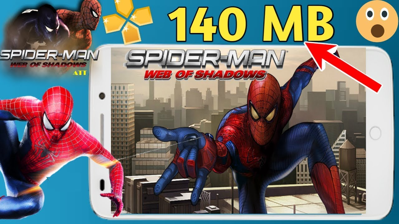 140 mb spider man web of shadows ppsspp highly compressed with best
