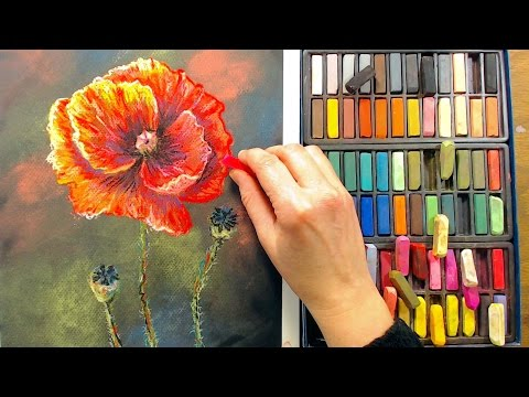 LIVE! Poppies in Pastel 12:30pm ET