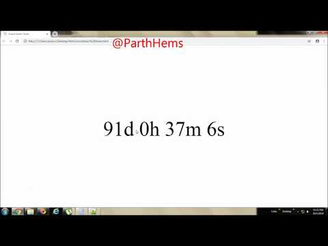 HTML:How To Create Countdown Timer Using Java Script & HTML