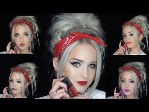 SmashBox Always On Matte Liquid Lipstick Swatches | Superwoman Lilly Singh