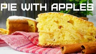 Cake charlotte with apples kefir in the oven recipe. simple apple pie.  pie with apples