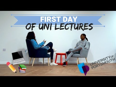first day of LECTURES   UNIVERSITY OF PORTSMOUTH