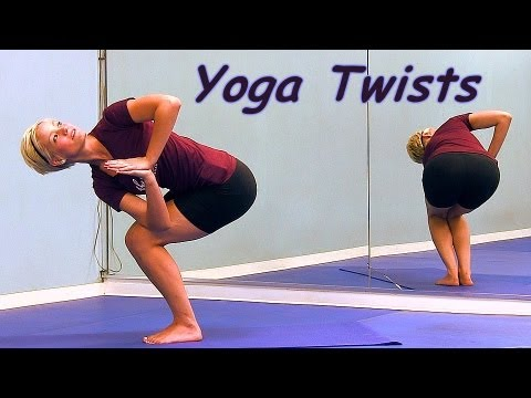 yoga twist how to video for beginners relaxing moves for