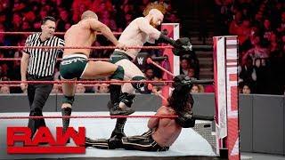 Seth Rollins & Kofi Kingston vs. The Bar: Raw, April 8, 2019