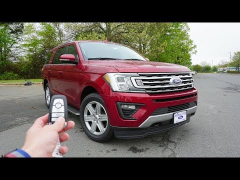 2018 Ford Expedition XLT 4X4: Start Up, Walkaround, Test Drive and Review