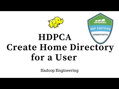 HDPCA - Create a home directory for a user and configure permissions