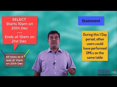 Read Consistency - Statement Level - DBArch Video 25