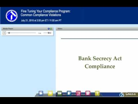 NCUA Webinar:  Fine Tuning Your Compliance Program (7/21/2015)