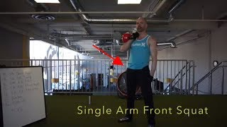 KB Single Arm Squat Demo