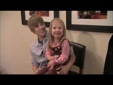 Justin Bieber meets a baby fan !!! really...