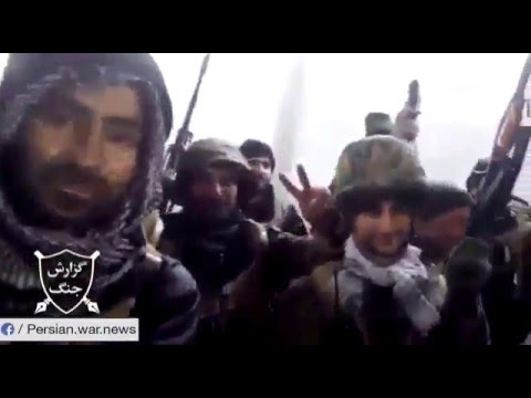 Iranians of IRGC chanting in north Aleppo, Syria
