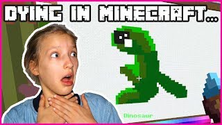 Dying in Minecraft