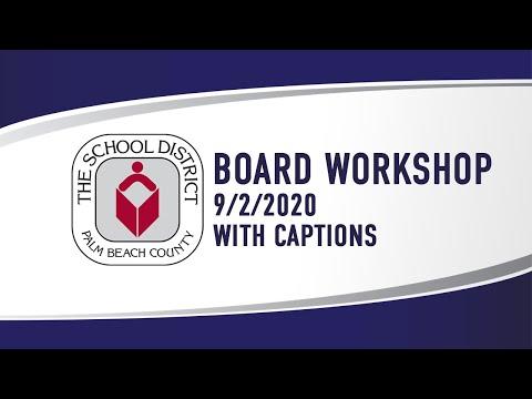 SDPBC Board Workshop (9/2/2020)